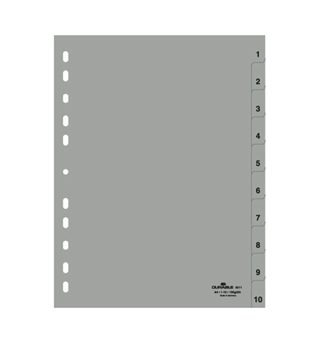 фото: Разделитель листов Durable 10 разделов А4, 6511-10