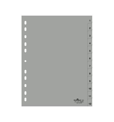 фото: Разделитель листов Durable 12 разделов А4, 6512-10