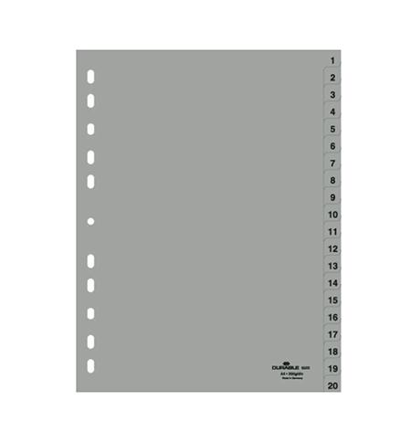 фото: Разделитель листов Durable А4, 20 разделов, 6522-10