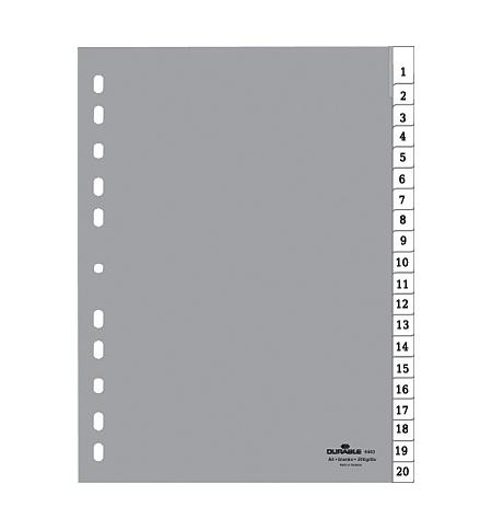 фото: Разделитель листов Durable А4, 20 разделов, 6443-10