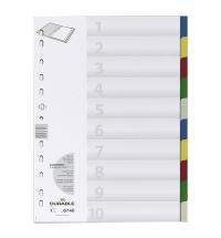 Разделитель листов Durable 10 разделов А4, 6740-27