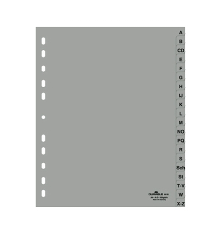 фото: Разделитель листов Durable 20 разделов А4, по алфавиту A-Z, 6520-10