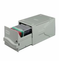 """фото: Бокс для CD/DVD Durable Multimedia box серый на 26 CD-дисков/ 136 дискет 3.5"""", 5256-10"""