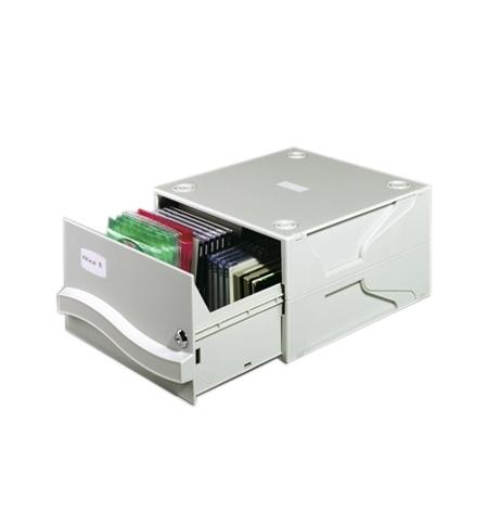 фото: Короб для CD/DVD Durable Multimedia Box II серый на 53/230 дисков, 5257-10