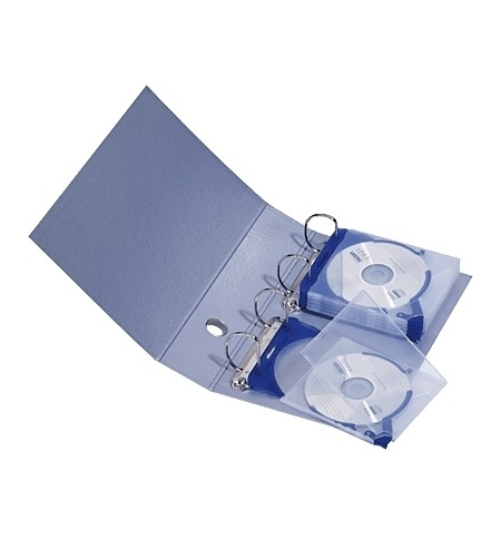 фото: Папка для CD/DVD Durable металлик на 20 дисков, 5273-23