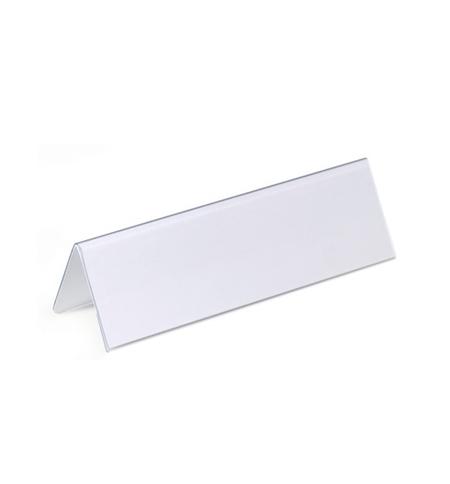 фото: Табличка настольная Durable 61х210 мм двухсторонняя, 25шт, 8052-19