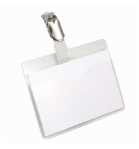 Бейдж на зажиме Durable 60х90мм 25шт/уп, белый, 8106-19