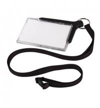 Бейдж с тесьмой Durable De Luxe 54х85мм черная тесьма, 10шт/уп, 8207-58