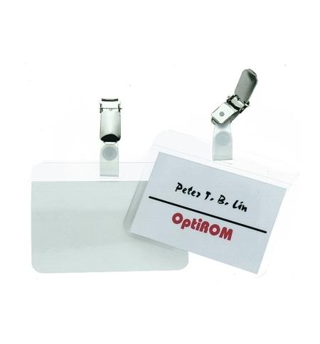 фото: Бейдж на зажиме Durable 54х90мм 50шт/уп, самоламинирующийся, 8102-19