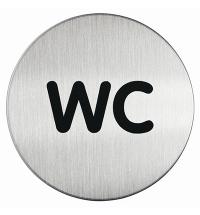 Указатель Туалет Durable 83мм, матированная сталь, 4907-23