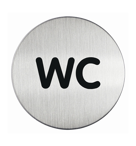 фото: Указатель Туалет Durable 83мм, матированная сталь, 4907-23