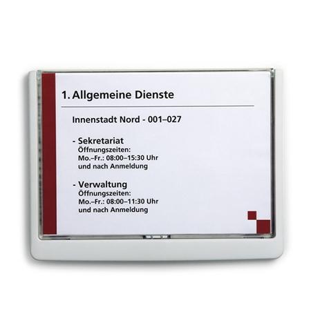 фото: Табличка настенная Durable Click Sign 210х150мм белый, 4866-02