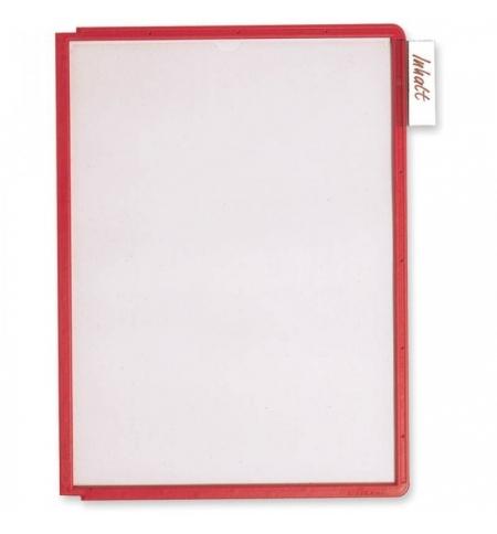 фото: Панель для демосистем Durable А4 красный, 5606-03