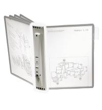 Демосистема настенная Durable Sherpa А4 на 5 панелей, серый, без панелей, 5622-10