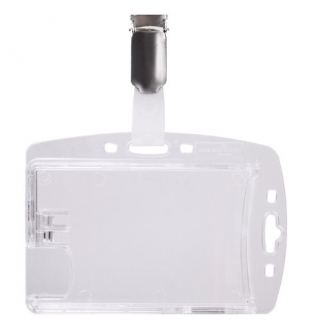 фото: Чехол для пропусков Durable 54х85мм 25шт/уп, прозрачный, двойной, 8013-19