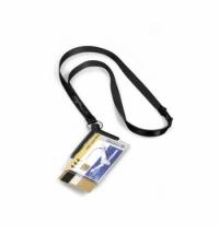 Чехол для пропусков на тесьме Durable Card Holder Pro Duo 54х85 мм темно-серый, 8208-58