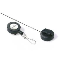 Держатель-рулетка для бейджа Durable с клипом темно-серый, 60см, на карабине, 10 шт/уп, 8221-58