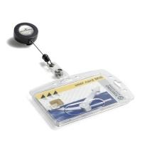 Чехол для пропусков на рулетке Durable прозрачный 80см, жесткий, 8012-19