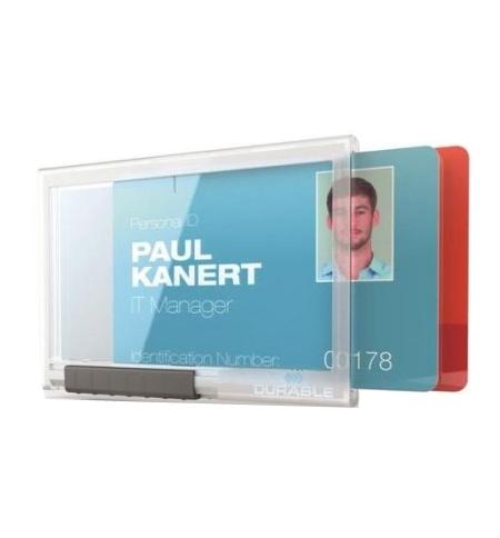 фото: Чехол для пропусков Durable для двух карточек 54х87мм, 10шт/уп, прозрачный