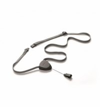 Держатель для бейджей на карабине Durable серый 50см, 10шт/уп
