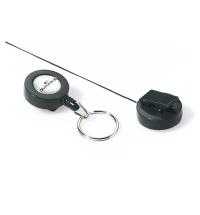Держатель-рулетка для бейджа Durable с клипом черный, 60см, на кольце, 10 шт/уп, 8222-58