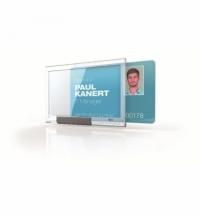 Чехол для пропусков Durable для одной карточки 54х87мм, 10шт/уп, прозрачный