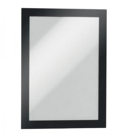 фото: Настенная магнитная рамка Durable Duraframe А5 самоклеящаяся, 2шт, черная, 4871-01