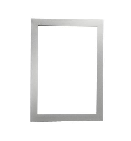 фото: Настенная магнитная рамка Durable Duraframe А5 самоклеящаяся, 2шт, серебристая, 4871-23
