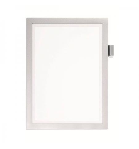 фото: Настенная магнитная рамка Durable Duraframe А4 светло-серая, самоклеящаяся, 4993