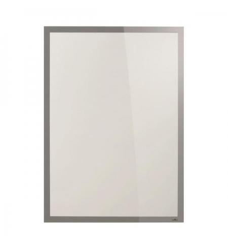 фото: Настенная магнитная рамка Durable Duraframe Poster Sun 50х70см серебристая, антистатическая, для стекла, 5005-23