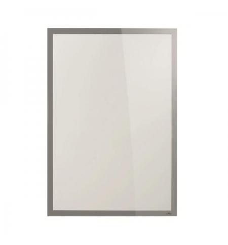 фото: Настенная магнитная рамка Durable Duraframe Poster Sun А1 серебристая, антистатическая, для стекла, 5006-23