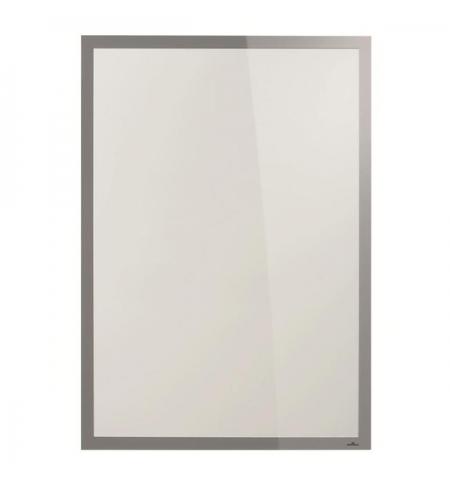 фото: Настенная магнитная рамка Durable Duraframe Poster Sun 70х100см серебристая, антистатическая, для стекла, 5007-23