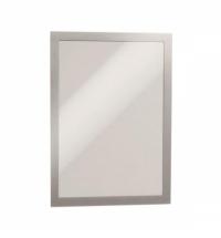Настенная магнитная рамка Durable Duraframe Poster Sun А4 серебристая, антистатическая, для стекла, 2шт, 4841-23