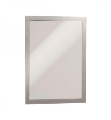 фото: Настенная магнитная рамка Durable Duraframe Poster Sun А4 серебристая, антистатическая, для стекла, 2шт, 4841-23
