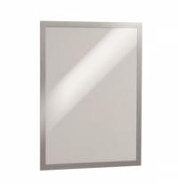 Настенная магнитная рамка Durable Duraframe Poster Sun А3 серебристая, антистатическая, для стекла, 2шт, 4841-23