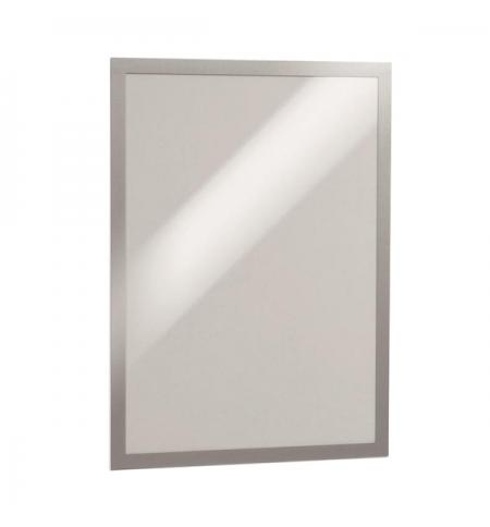 фото: Настенная магнитная рамка Durable Duraframe Poster Sun А3 серебристая, антистатическая, для стекла, 2шт, 4841-23