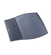 Коврик настольный для письма Durable Desk Pad 39х44см 3 кармана, черный, 7209-01