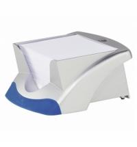 Блок для записей непроклеенный в подставке Durable Vegas белый в серебристом боксе 90х90мм, 500 листов, 771423