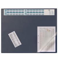 Коврик настольный для письма Durable 52х65см с карманом и календарем, синий, 7204-07