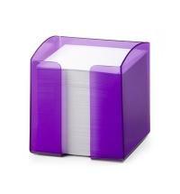 Блок для записей непроклеенный в подставке Durable Trend белый в фиолетовом боксе 90х90мм, 800 листов