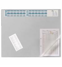 Коврик настольный для письма Durable 52х65см с карманом и календарем, серый, 7204-10