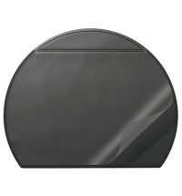 Коврик настольный для письма Durable 52х65см с карманом, черный, 7290-01