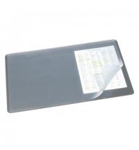 Коврик настольный для письма Durable 40х53см с карманом, серый, 7202-10