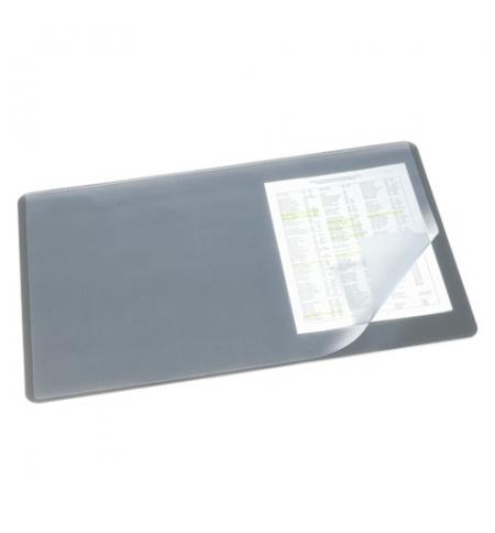 фото: Коврик настольный для письма Durable 40х53см с карманом, серый, 7202-10