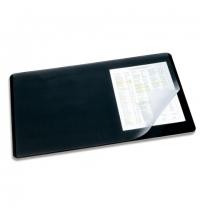 Коврик настольный для письма Durable 40х53см с карманом, черный, 7202-01