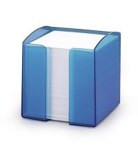 Блок для записей непроклеенный в подставке Durable Trend белый в синем блоке 90х90мм, 80 листов, 1701682540