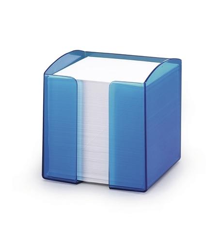 фото: Блок для записей непроклеенный в подставке Durable Trend белый в синем блоке 90х90мм, 80 листов, 1701682540