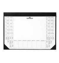 Коврик настольный для письма Durable с подкладкой для заметок и календарем на 2 года черный, 7291-01