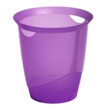 Корзина для бумаг Durable Trend 16л с прорезными ручками, фиолетовая