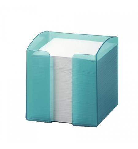 фото: Блок для записей непроклеенный в подставке Durable Trend белый в голубом боксе 90х90мм, 800 листов, 1701682014